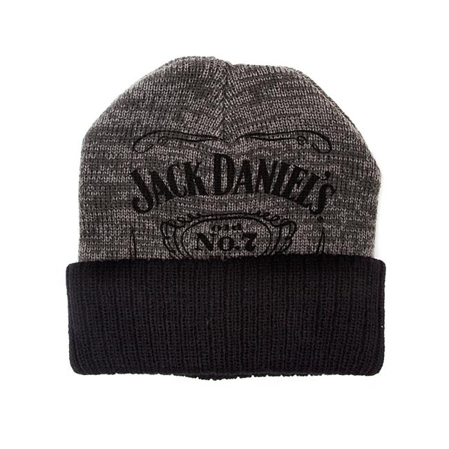 Čepice kulich Jack Daniels - Beanie, Black/Grey