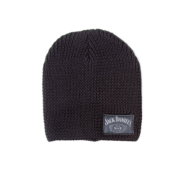 Čepice kulich Jack Daniels - Black Beanie with woven label