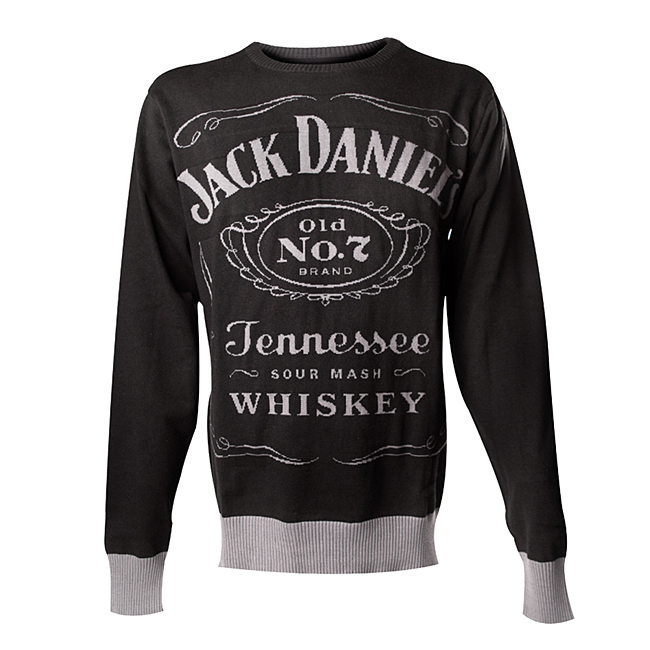 Svetr Jack Daniels Black, Knitted Sweater