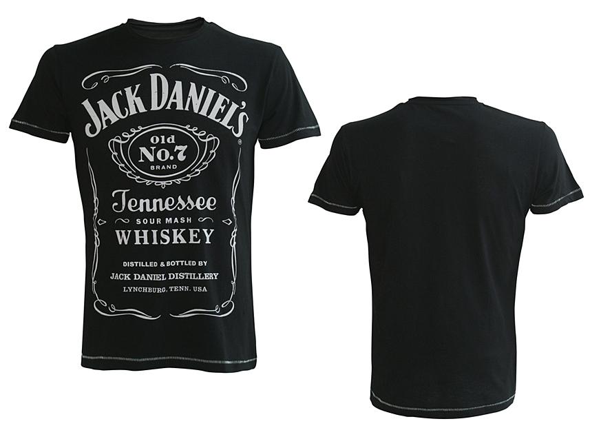 Tričko Jack Daniels Black, Classic Logo Mens