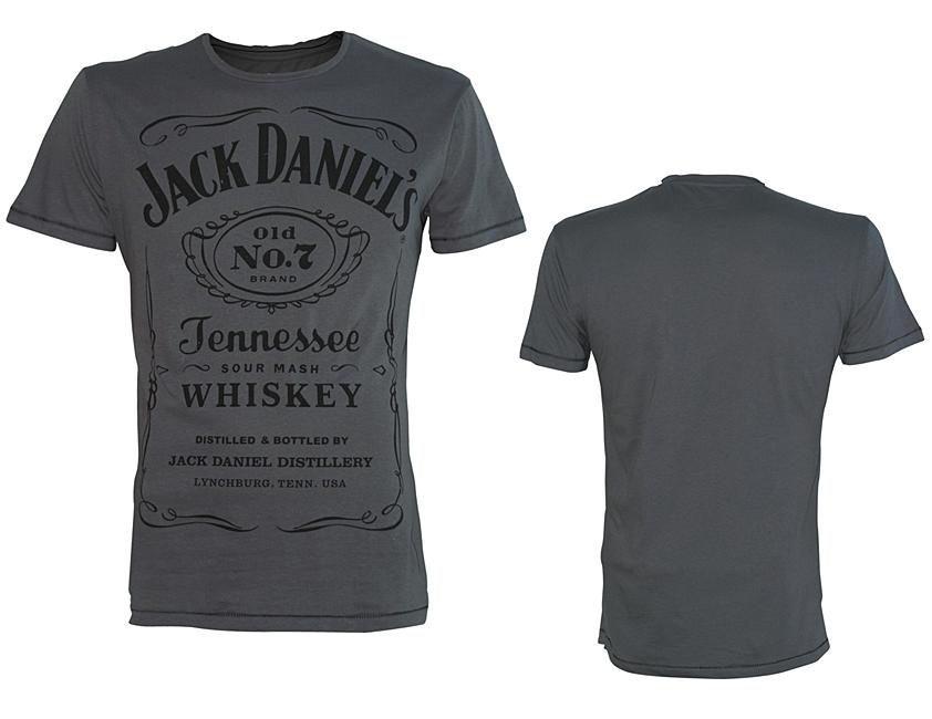 Tričko Jack Daniels Grey, Classic Black Logo