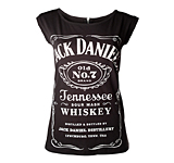 Dámské tričko Jack Daniels Black, With Zipper On Back