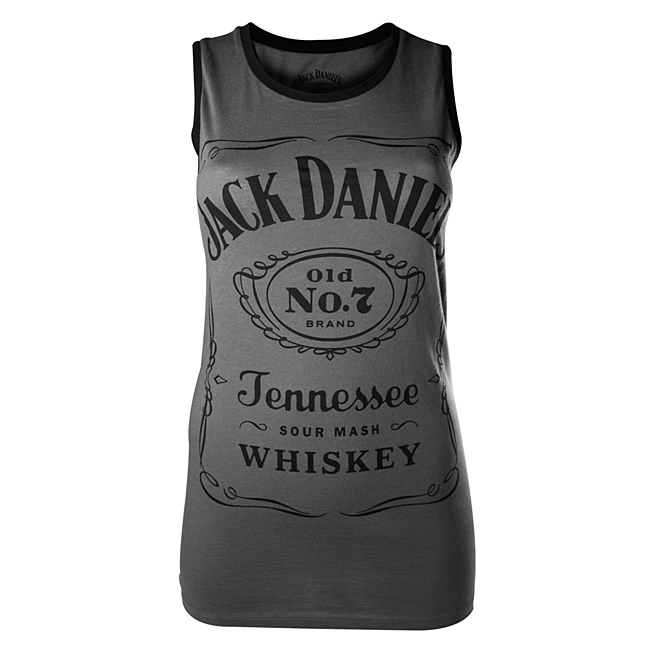 Dámské tričko Jack Daniels Charcoal, Female Tanktop